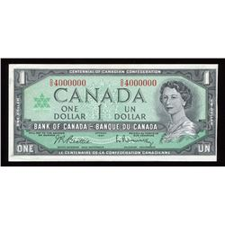 Bank of Canada $1, 1967 Million Numbered Note