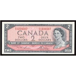 Bank of Canada $2, 1954 Ascending Ladder Serial Number