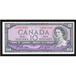 Bank of Canada $10, 1954 Ascending Ladder Serial Number