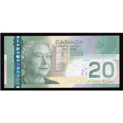 Bank of Canada $20, 2009 Incomplete Printing Error