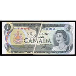 Bank of Canada $1, 1973 Error