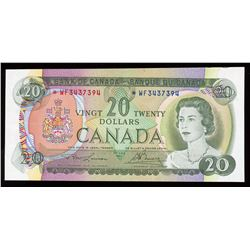 Bank of Canada $20, 1969 Replacement Cutting Error
