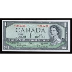 Bank of Canada $1, 1954 Devil's Face
