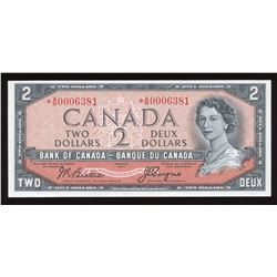 Bank of Canada $2, 1954 Devil's Face Replacement