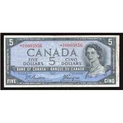 Bank of Canada $5, 1954 Devil's Face Replacement