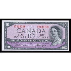 Bank of Canada $10, 1954 Devil's Face Transition Prefix