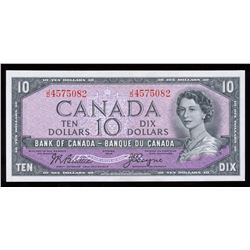 Bank of Canada $10, 1954 Devil's Face Transition Prefix