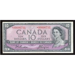 Bank of Canada $10, 1954 Devil's Face Replacement