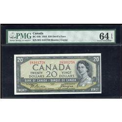 Bank of Canada $20, 1954 Devil's Face Transition Prefix