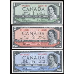 Bank of Canada $1 - $20 Devil's Face Set of 5 Notes