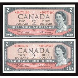 Bank of Canada $2, 1954 - Lot of 2 Replacements