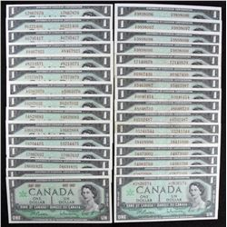 Bank of Canada $1, 1967 - Lot of 35