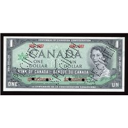 Bank of Canada $1, 1967 Specimen