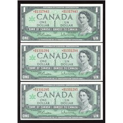 Bank of Canada $1, 1967 Replacement - Lot of 3