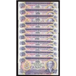 Bank of Canada $10, 1971 - Lot of 10