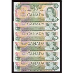 Bank of Canada $20, 1979 - Lot of 6