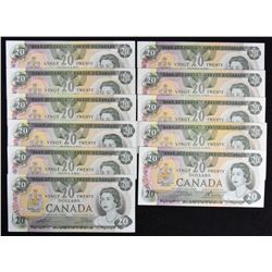 Bank of Canada $20, 1979 - Lot of 11
