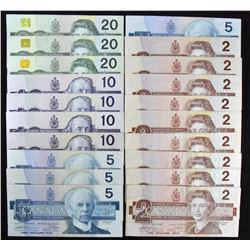 Canadian Banknote Medley