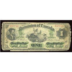 Dominion of Canada $1, 1870