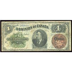 Dominion of Canada $4, 1882