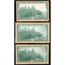 Dominion of Canada $4 Progressive Proofs Lot of 3