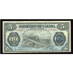 Dominion of Canada $5, 1912