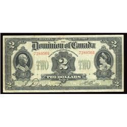 Dominion of Canada $2, 1914