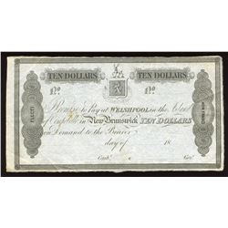 New Brunswick, Campobello Mill & Manufacturing Co. Welshpool, Island of Campobello $10, 1839