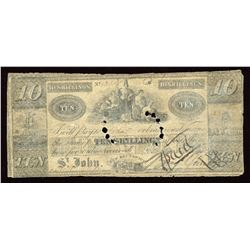 Saint John, New Brunswick, Benjamin Smith 5 & 10 Shillings, 1835