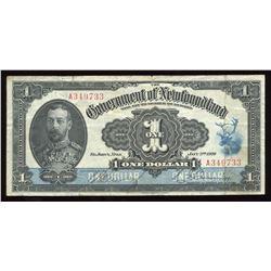 Government of Newfoundland $1, 1920