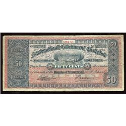 Government of Newfoundland 50 Cent Cash Note, 1912-13