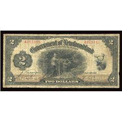 Government of Newfoundland $2, 1920