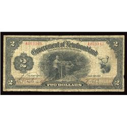 Government of Newfoundland $2, 1920
