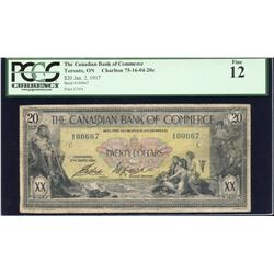 The Canadian Bank of Commerce $20, 1917