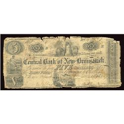 Central Bank of New Brunswick 5 Shillings, 1857