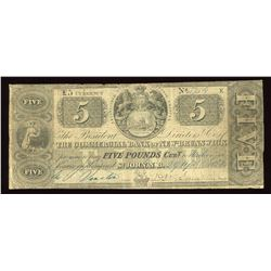 Commercial Bank of New Brunswick £5, 1851