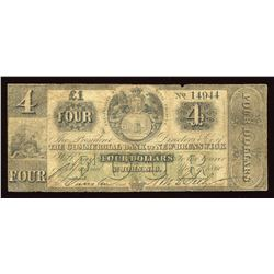 Commercial Bank of New Brunswick $4 (£1), 1860