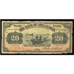 Bank of Nova Scotia $20, 1918