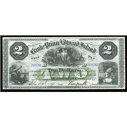 Bank of Prince Edward Island $2, 1877
