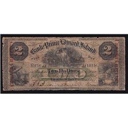 Bank of Prince Edward Island $2, 1877 Vignette