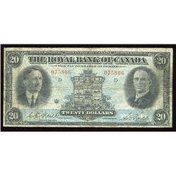 Royal Bank of Canada $20, 1927