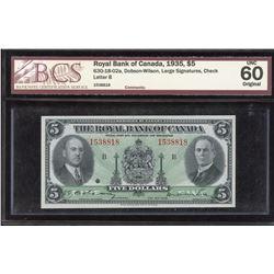 Royal Bank of Canada $5 1935
