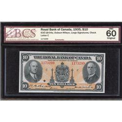 Royal Bank of Canada $10 1935