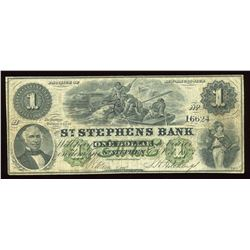 St. Stephens Bank $1, 1873