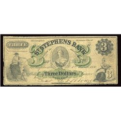 St. Stephens Bank $3, 1880
