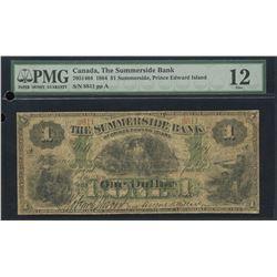 Summerside Bank $1, 1884