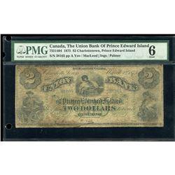 Union Bank of Prince Edward Island $2, 1875
