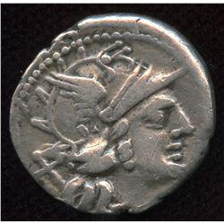 Roman Republic C. Valerius C.f. Flaccus, Denarius, c140 BC