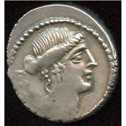 Roman Republic M. Albinus Bruti f, Denarius, c48 BC