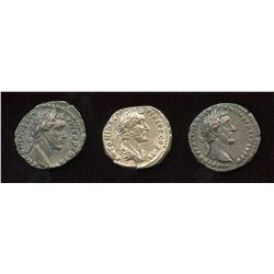 Antoninus Pius, (138-161 AD) Denarii (3)